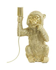 Tafellamp24,5x22x41,5cmMonkeyGoud