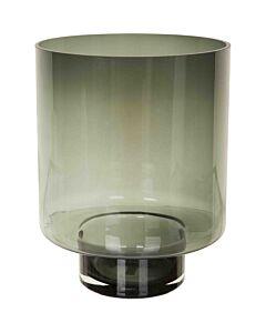 Kaarsenhouder grijs getint glas rond xl