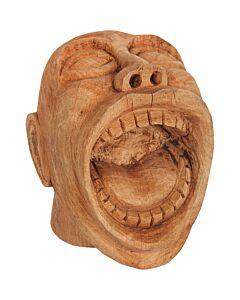 Lachend gezicht mangohout naturel