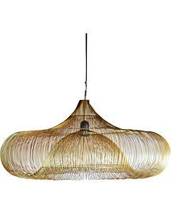 Hanglamp metalen draad Ufo goud