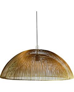 Hanglamp metalen draad Dome goud