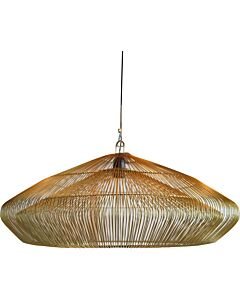 Hanglamp metalen draad Worker goud