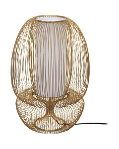 Tafellamp Bubble Straight metaal goud