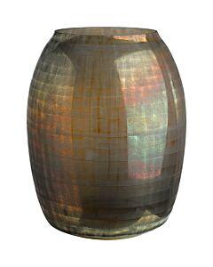 Vase checkered brown l